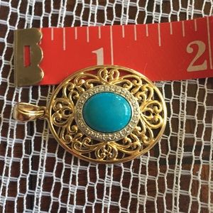 Jewelry - Gold over Sterling turquoise pendant